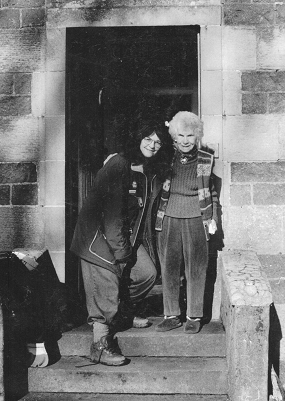 Mary and Margaret Fay Shaw standing in doorway